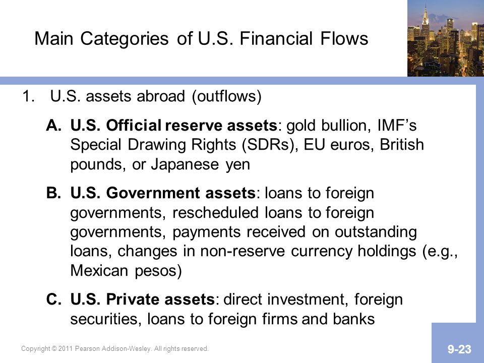 Main Categories of U.S. Financial Flows