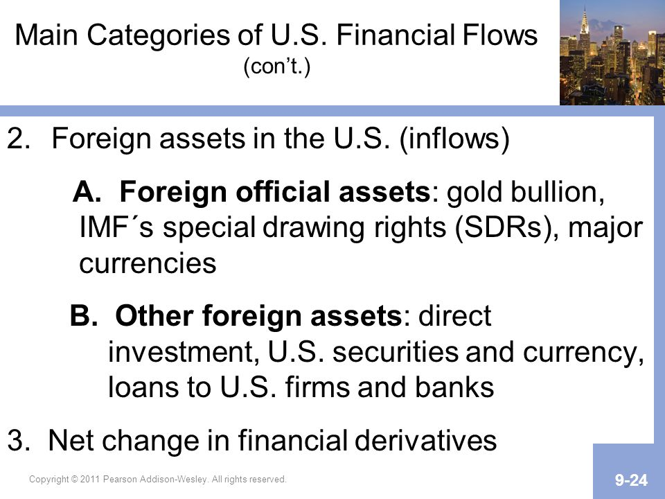 Main Categories of U.S. Financial Flows (con't.)