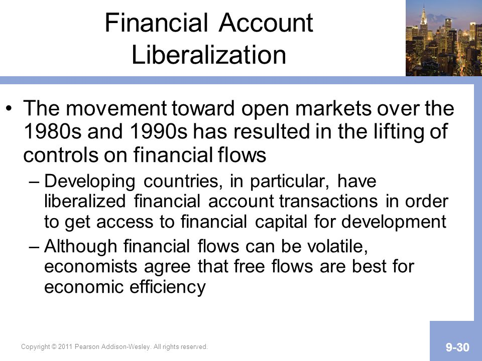 Financial Account Liberalization