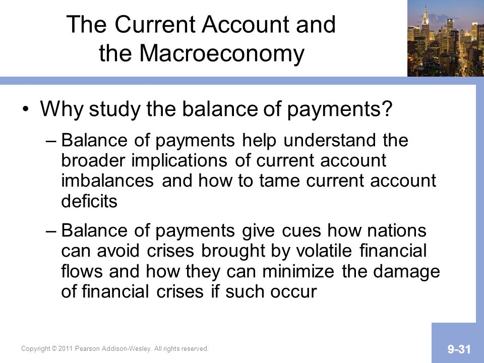 The Current Account and the Macroeconomy