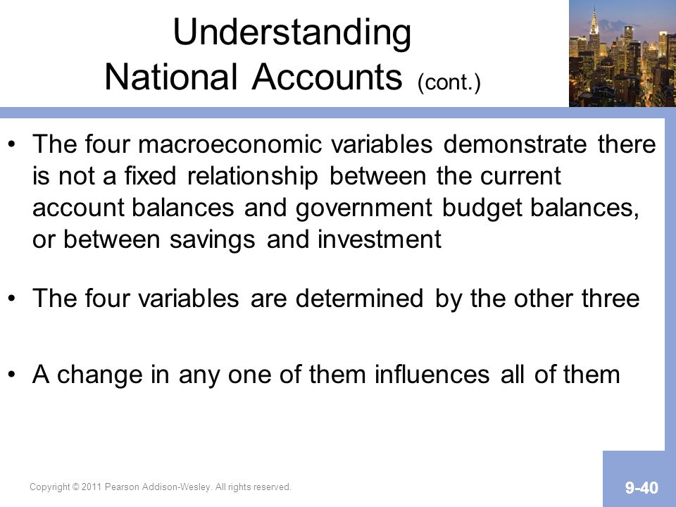 Understanding National Accounts (cont.)