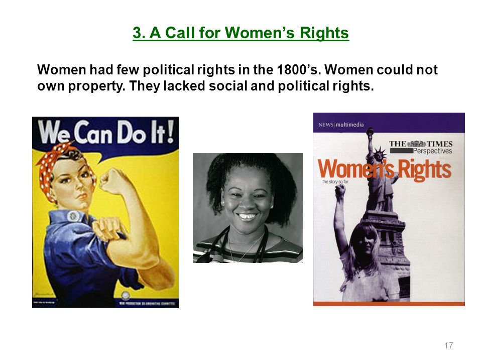 3. A Call for Women's Rights