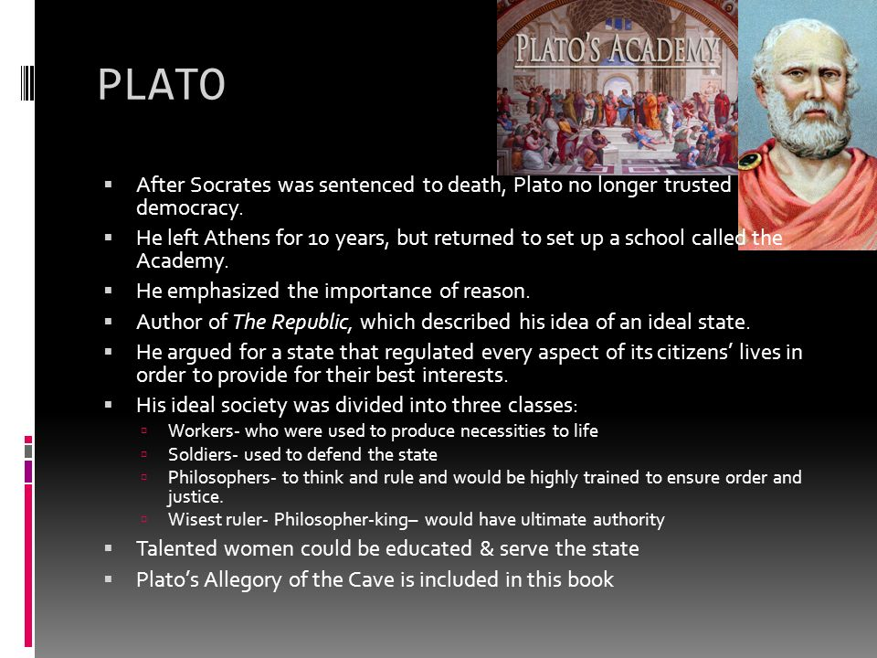 an analysis of platos suggestion of democracy 1, april 1994 plato on democracy and expertise1  plato makes  socrates say to polus that rhetoric is  have sophisticated methods of analysis,  and we h  i am not, let me emphasize, wanting to suggest against plato that  there are.