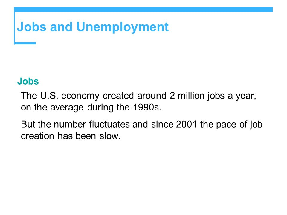 Jobs and Unemployment Jobs