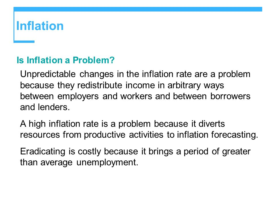 Inflation Is Inflation a Problem