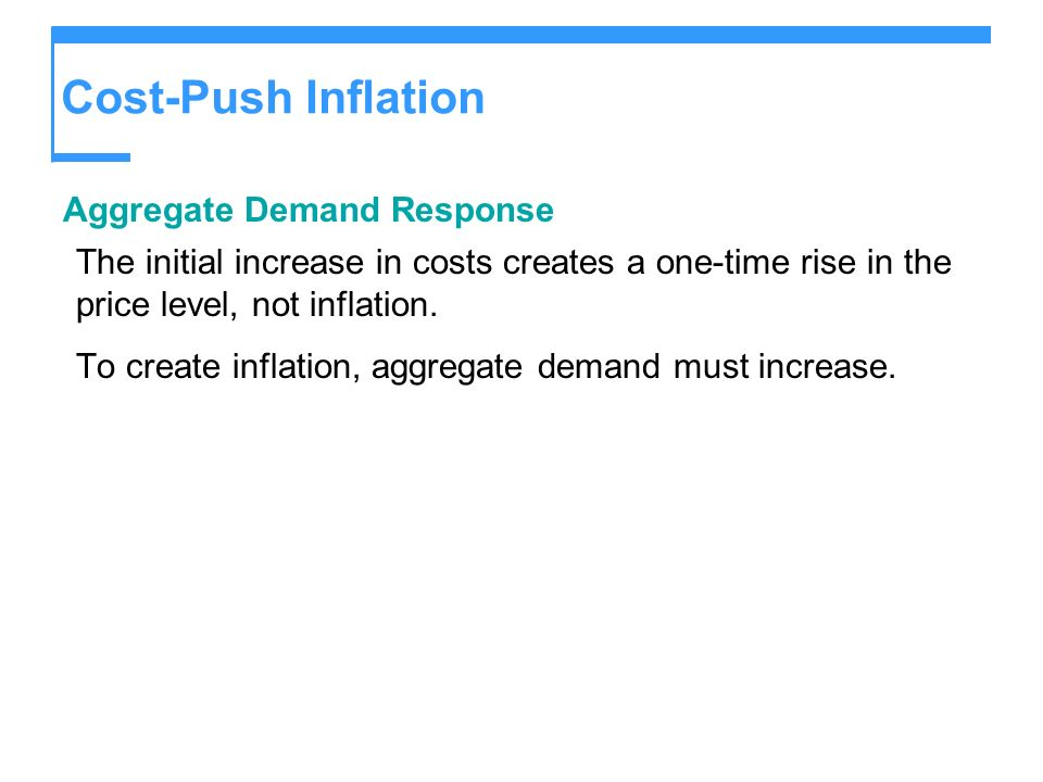 Cost-Push Inflation Aggregate Demand Response