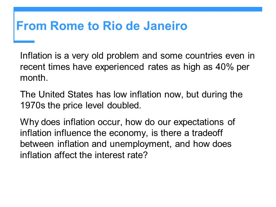 From Rome to Rio de Janeiro