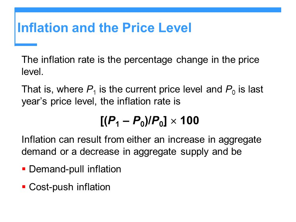 Inflation and the Price Level