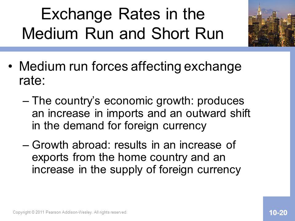 Exchange Rates in the Medium Run and Short Run