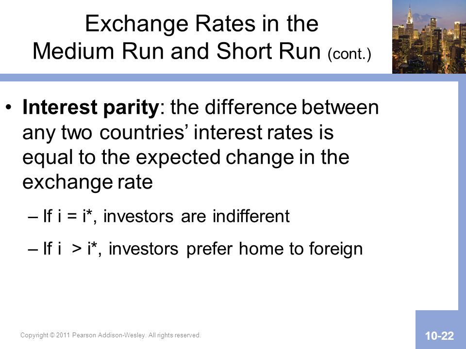 Exchange Rates in the Medium Run and Short Run (cont.)