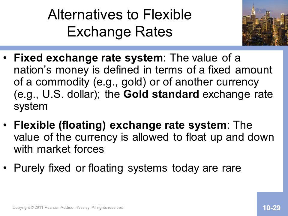 Alternatives to Flexible Exchange Rates