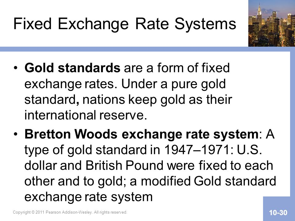 Fixed Exchange Rate Systems