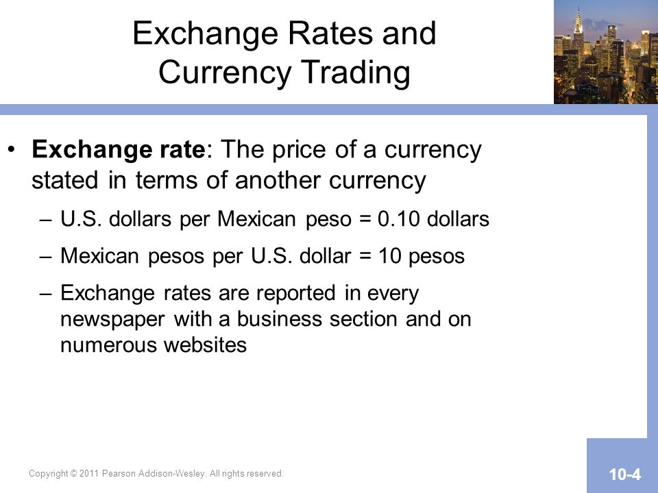 Exchange Rates and Currency Trading