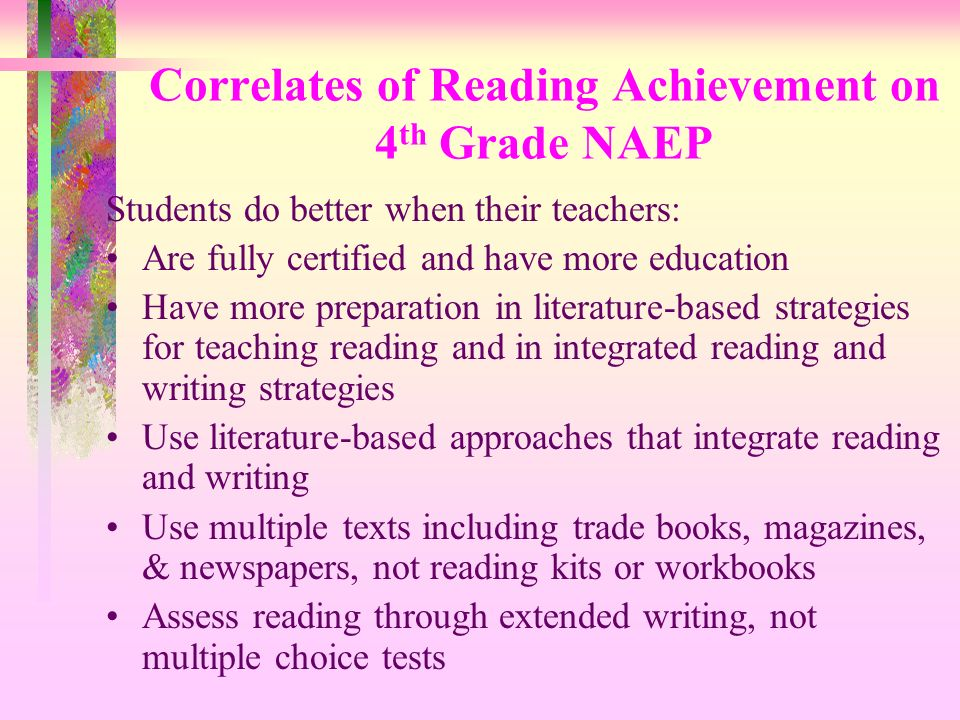 Correlates of Reading Achievement on 4th Grade NAEP