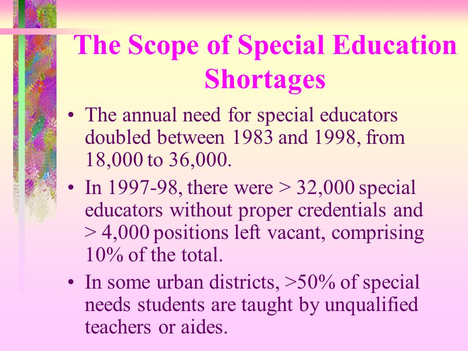 The Scope of Special Education Shortages