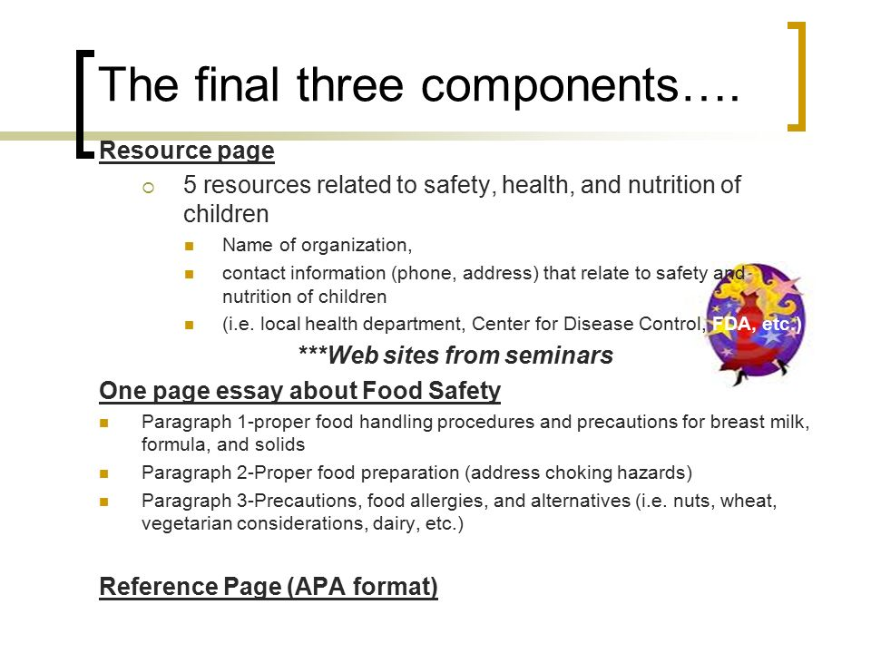 essays about food safety