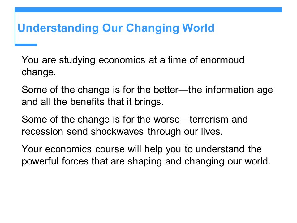 Understanding Our Changing World