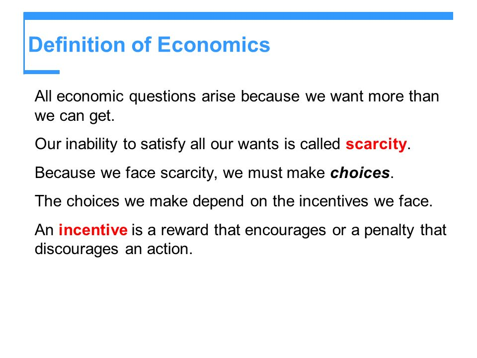The Economic Problem of Scarcity of Choice Essay