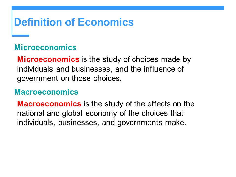 Definition of Economics
