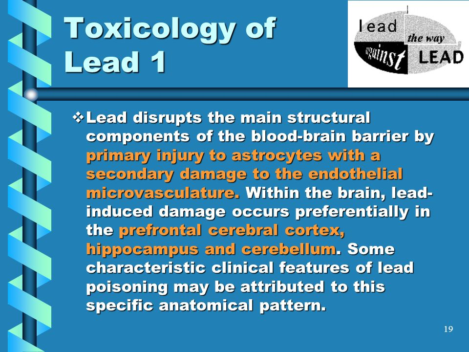 Toxicology of Lead 1