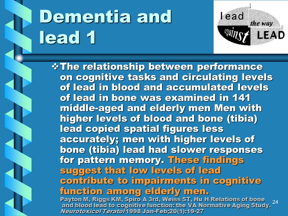 Dementia and lead 1