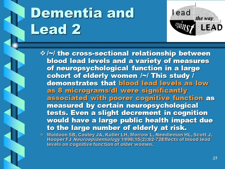 Dementia and Lead 2