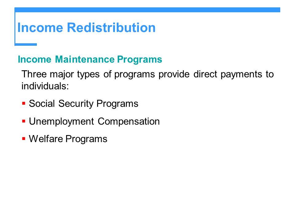 Income Redistribution