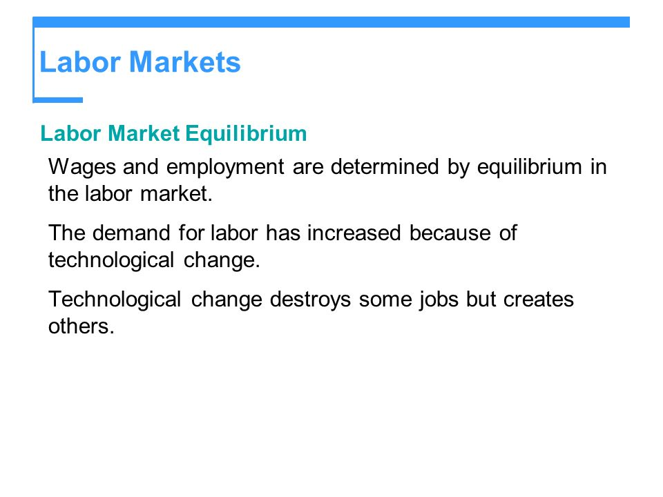 Labor Markets Labor Market Equilibrium