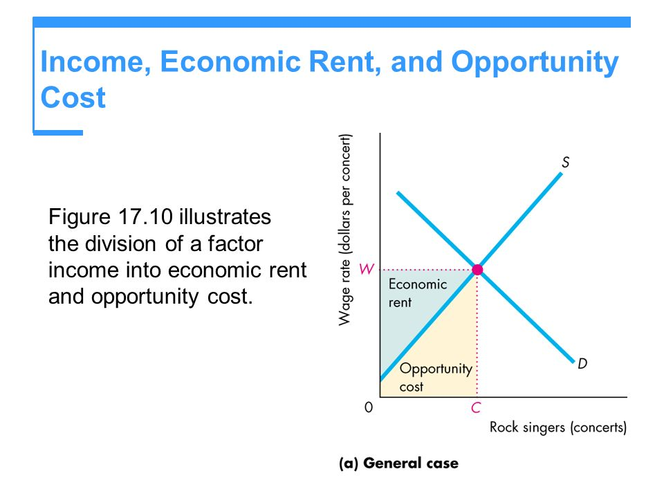 Income, Economic Rent, and Opportunity Cost