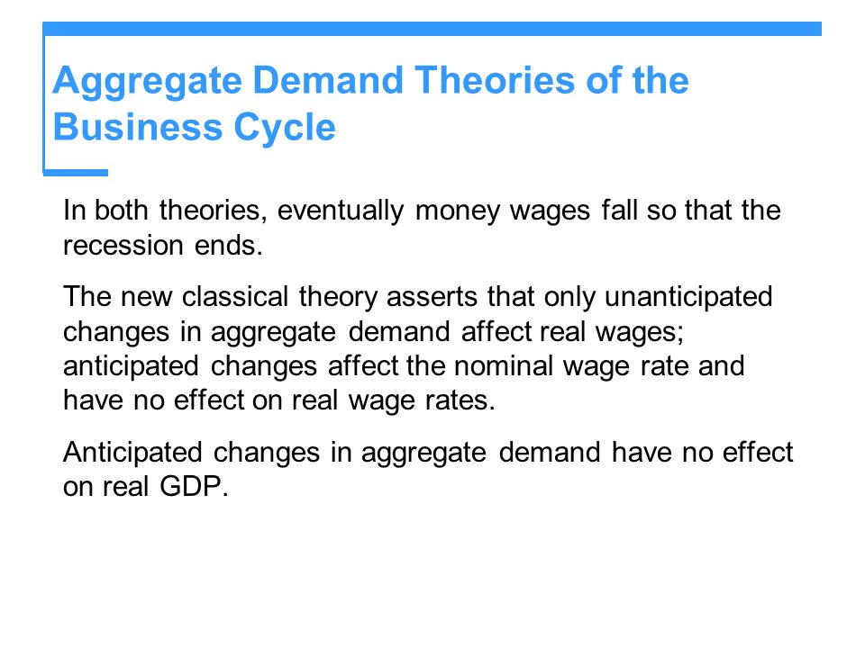 Aggregate Demand Theories of the Business Cycle