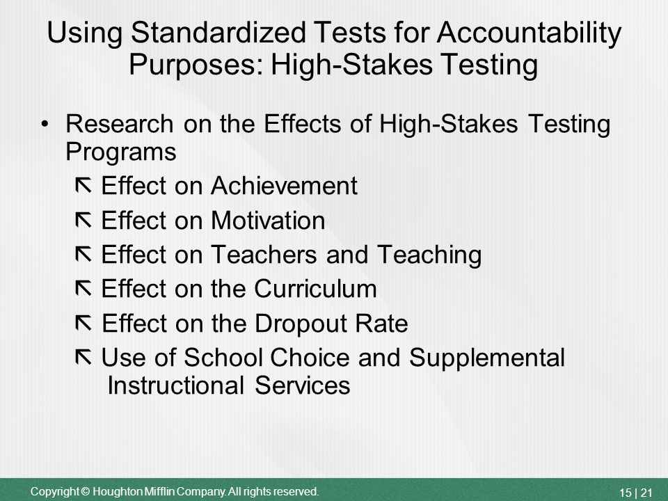 an analysis of the article high stakes testing defeats purpose of education The ironic upshot of value-added systems and other high-stakes genuine educative purpose we envision rural sorts of education peabody journal of education.