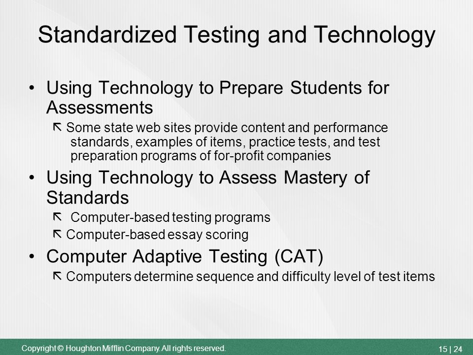 essay on standardized testing procedures