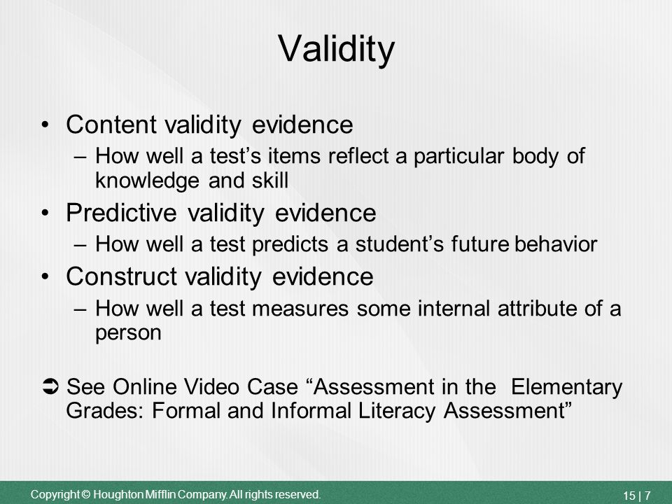 the validity of standardized tests Validity study of fsa, florida's new test, finds it a valid, accurate exam, doe announces.
