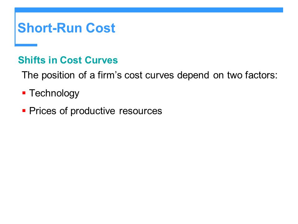 Short-Run Cost Shifts in Cost Curves