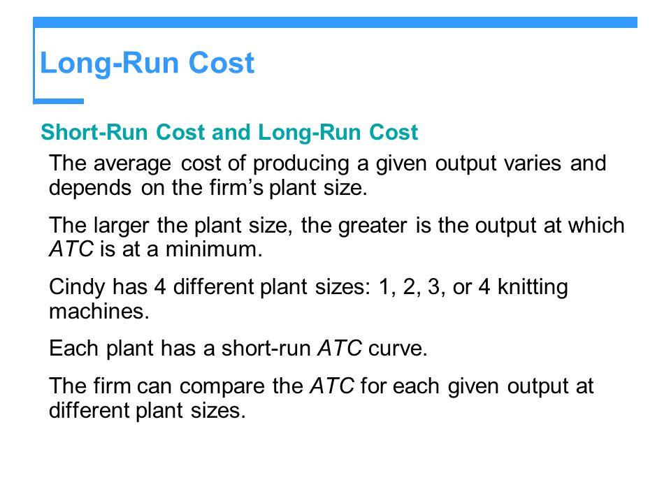 Long-Run Cost Short-Run Cost and Long-Run Cost