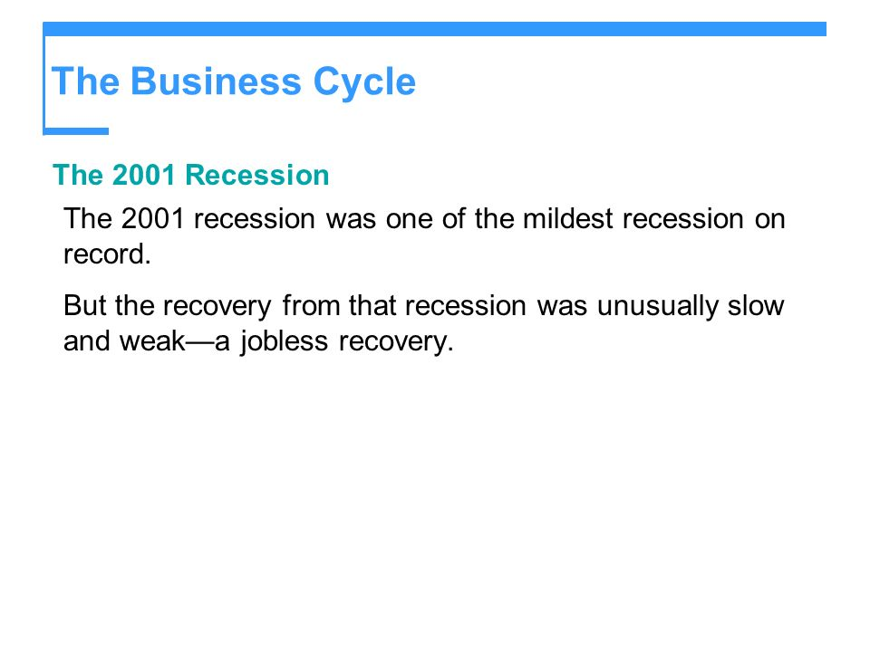 The Business Cycle The 2001 Recession
