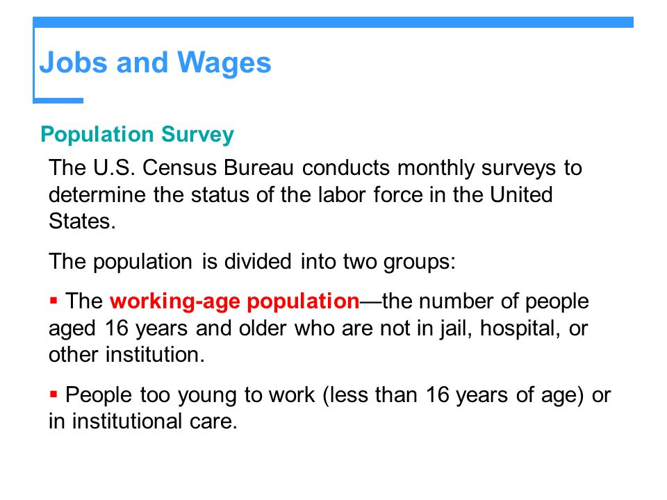 Jobs and Wages Population Survey