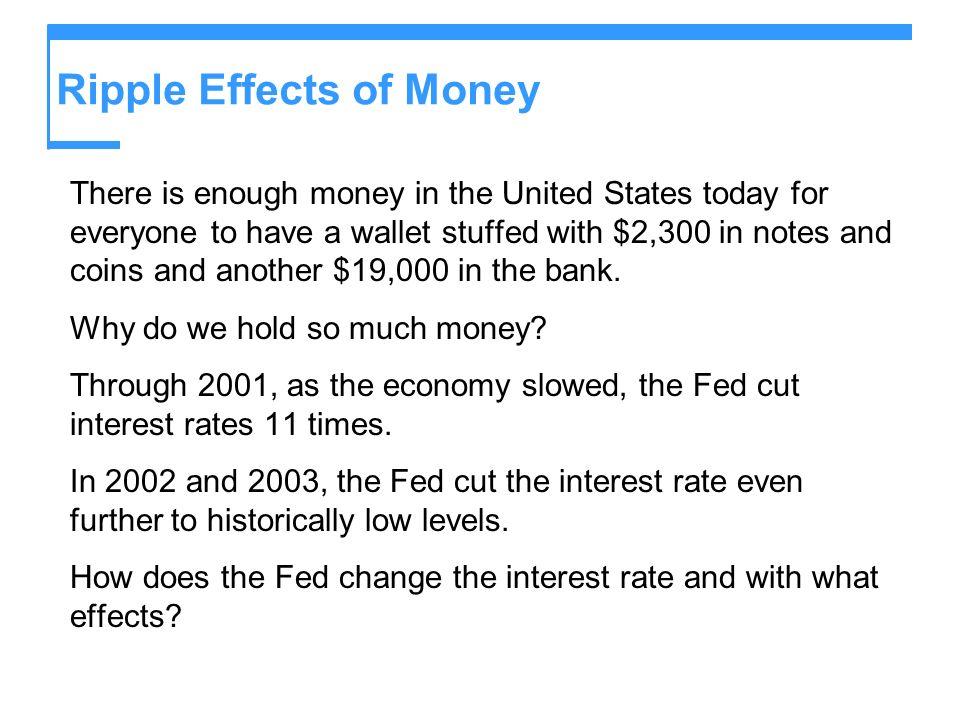 Ripple Effects of Money