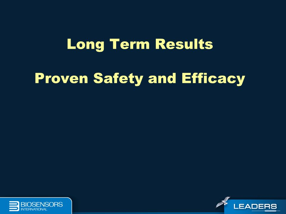 Long Term Results Proven Safety and Efficacy