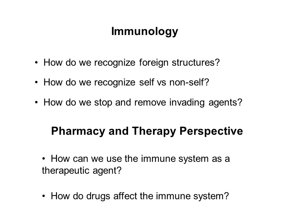 Pharmacy and Therapy Perspective
