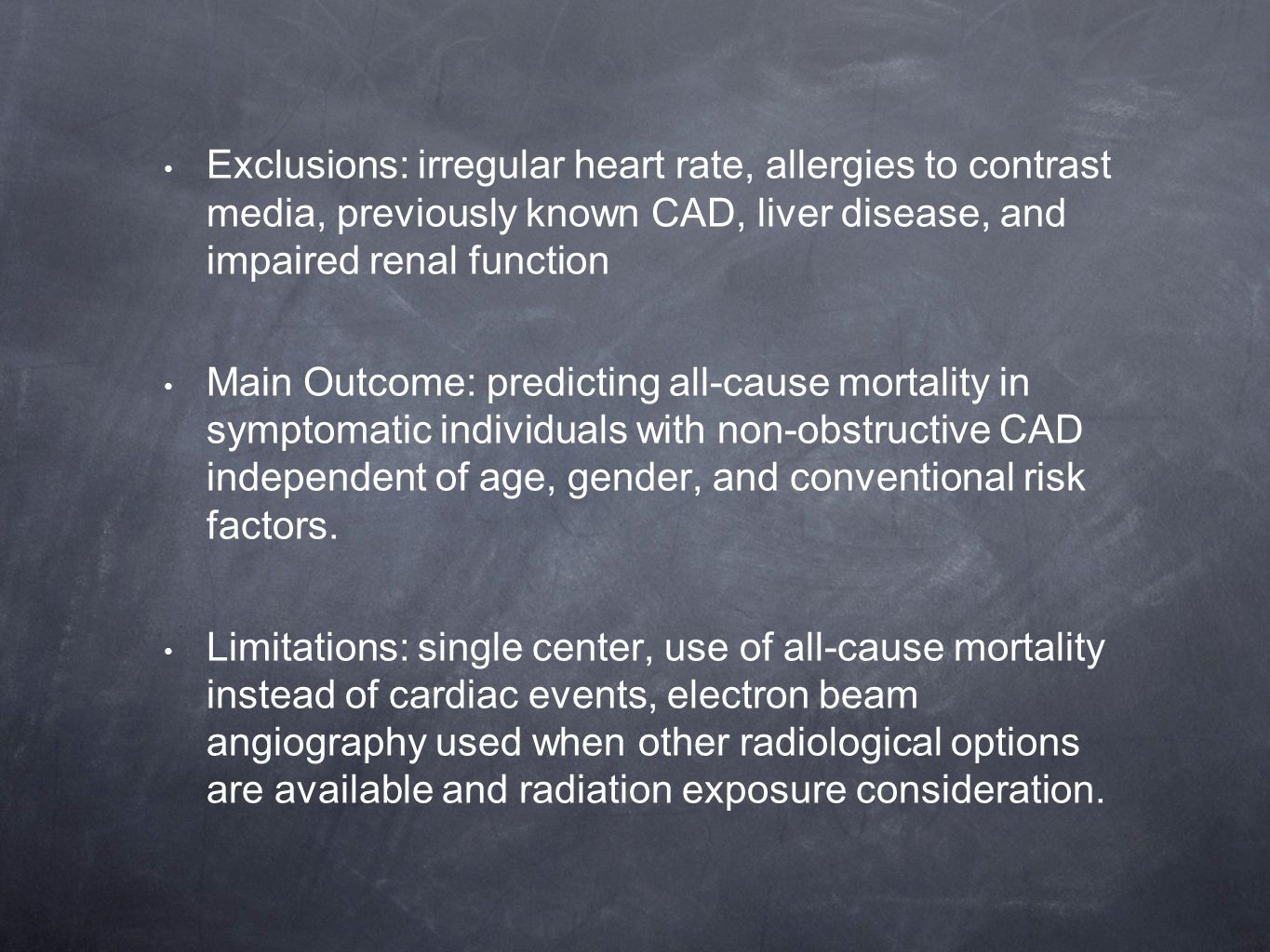 Mortality Incidence of Patients With Non-Obstructive Coronary ...