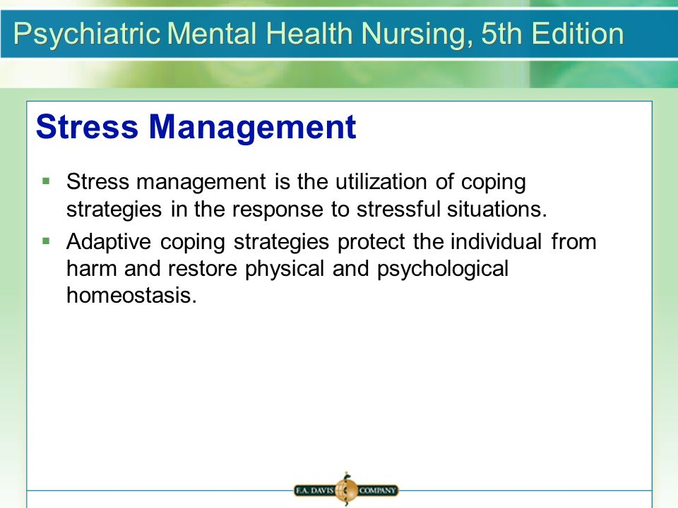 stress and coping strategies pdf