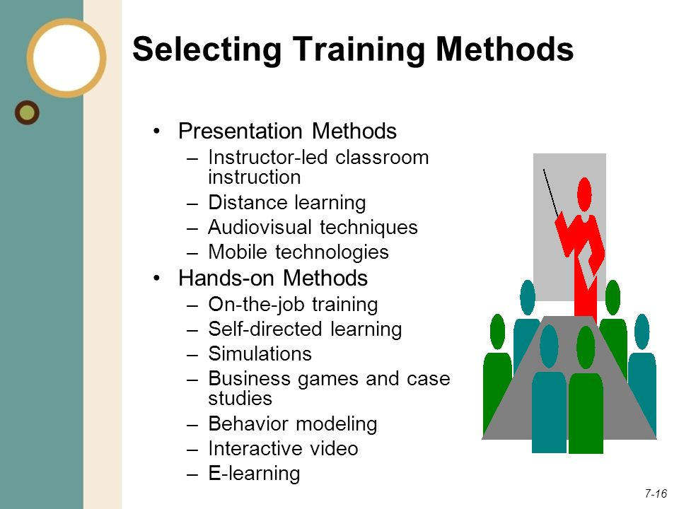 Selecting Training Methods