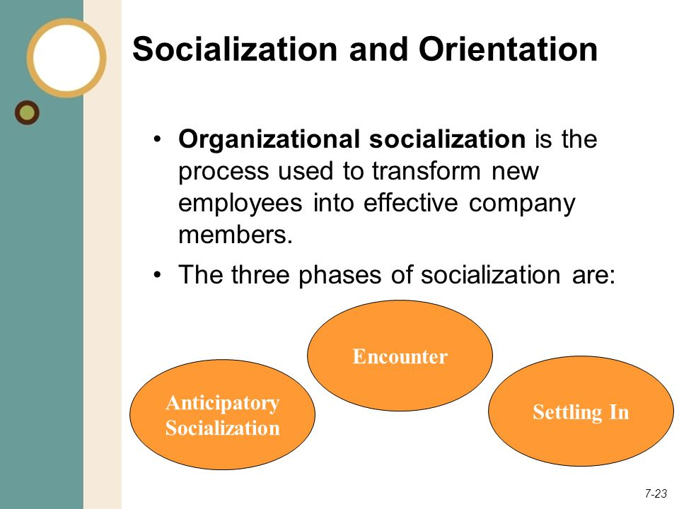 Socialization and Orientation