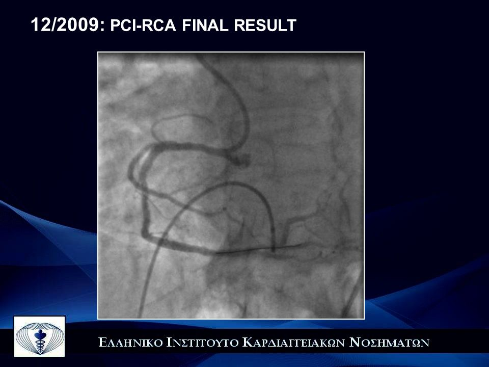 12/2009: PCI-RCA FINAL RESULT