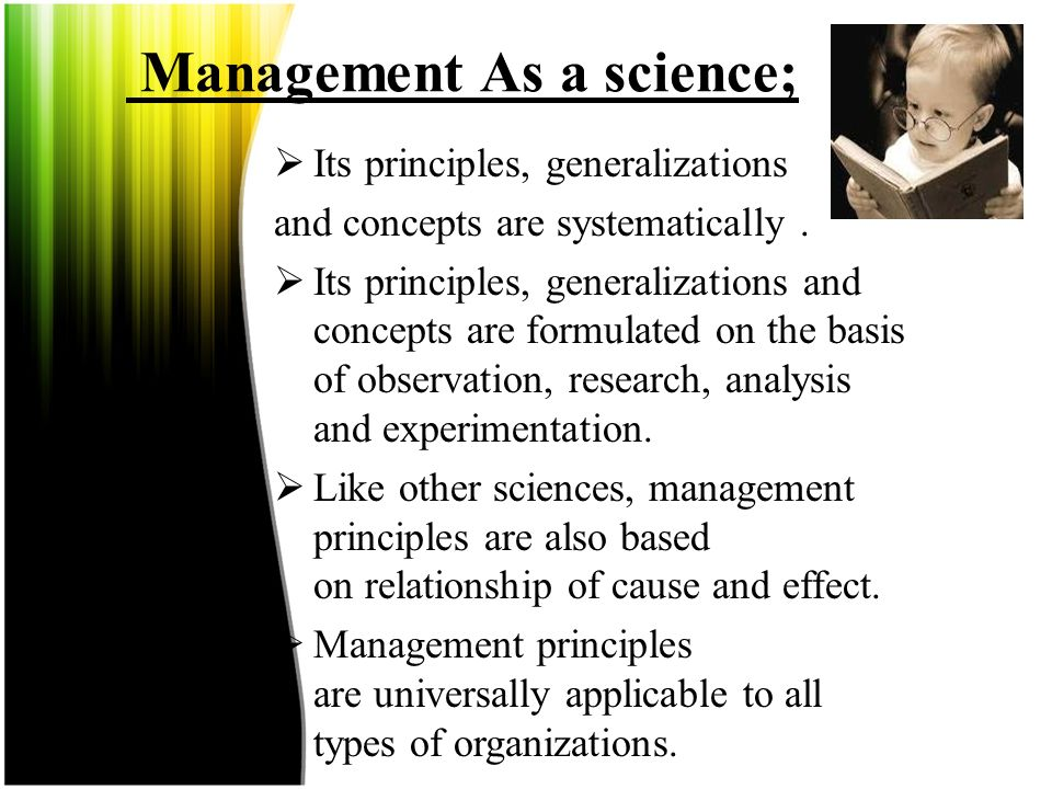 Management As a science;