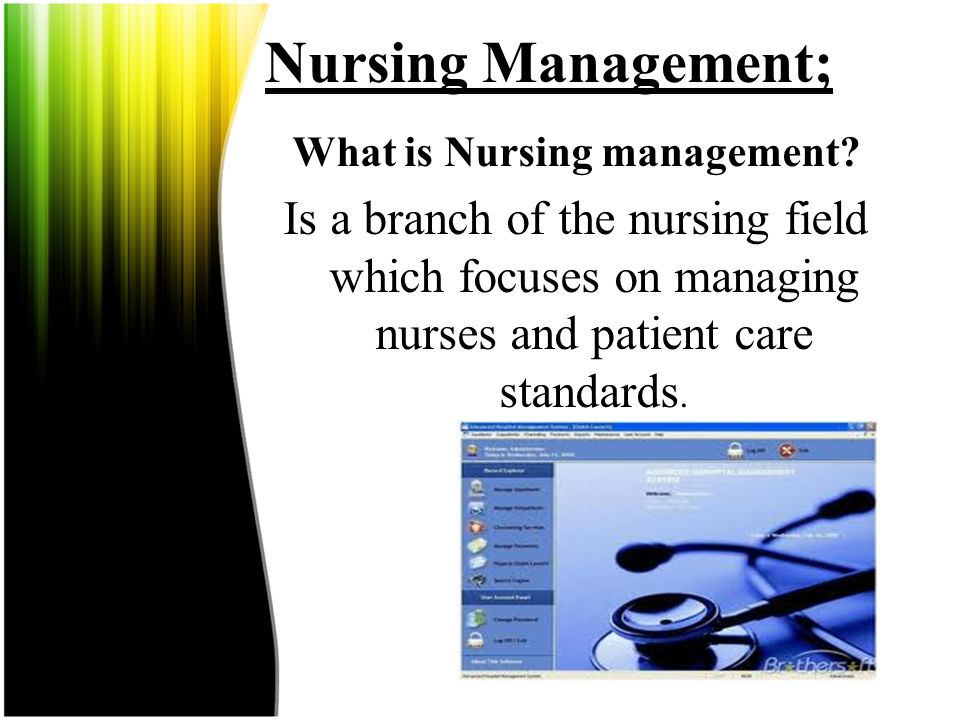 What is Nursing management