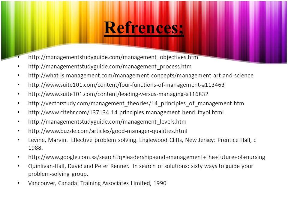 Refrences; http://managementstudyguide.com/management_objectives.htm