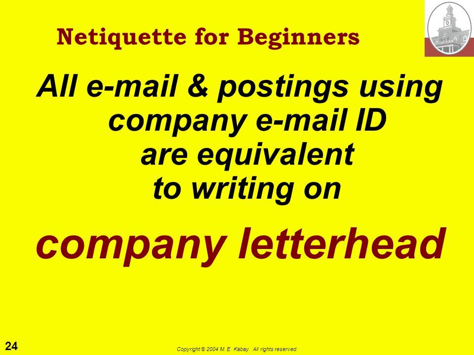 Netiquette for Beginners