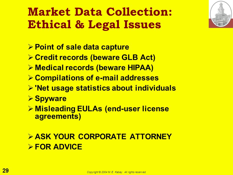 Market Data Collection: Ethical & Legal Issues